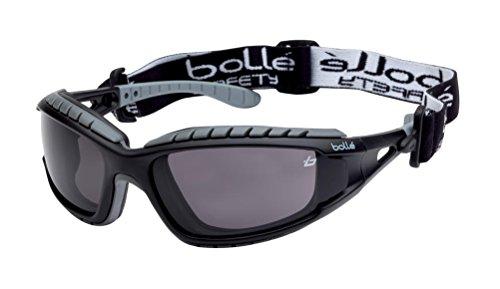 Bolle TRACPSF - Gafas de seguimiento de nailon con marco antiarañazos y lentes antiniebla, color negro y humo ⭐