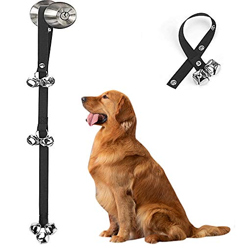 CUPDKS Dog Doorbells Premium Quality Training Potty Great Dog Bells Adjustable Door Bell Dog Bells for Potty Training Your Puppy The Easy Way - Premium Quality - 7 Extra Large Loud 1.4 DoorBells