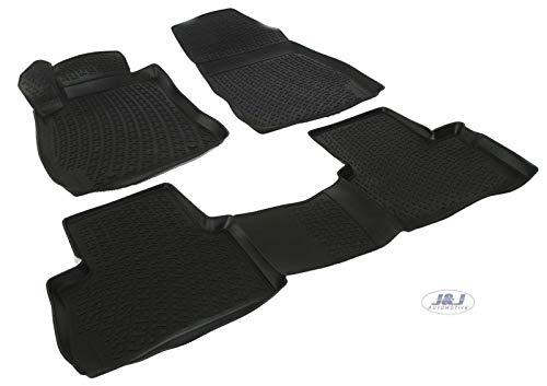 J&J AUTOMOTIVE | Tapis DE Sol en Caoutchouc 3D Exclusive Compatible avec Nissan Juke 2010-2018 4pcs