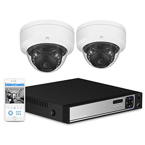 Cámara 4CH 5.0MP PoE NVR Kit 1080P 5.0MP Cámara de Seguridad CCTV Sistema de CCTV Cámara IP a Prueba de vandalismo de Metal 2MP P2P Conjunto de videovigilancia Vigilancia