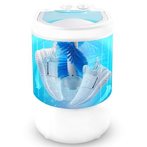 Mini lavadora portátil, lavadora, zapatos, lavar la ropa y secar en centrifugado, 4,5 kg de capacidad, mini lavadora para apartamentos, camping, dormitorios, viajes de negocios,...