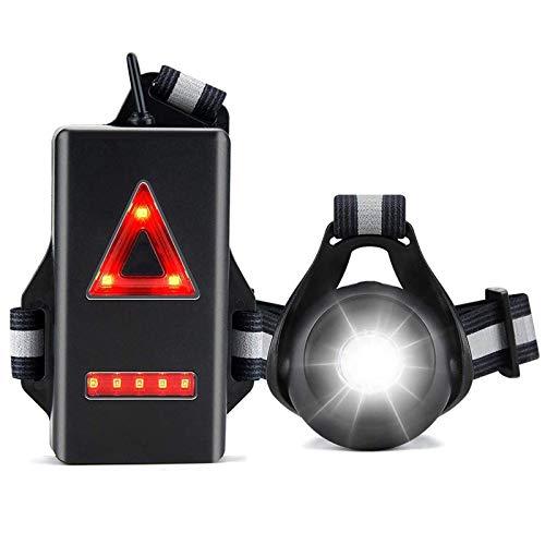 Luz para Correr Running, Luz del Pecho, Recargables USB Impermeable, para Deportes al Aire Libre con Retroiluminación 2 Modos de Iluminación para Trotar, Hacer Senderismo, Pasear Perros