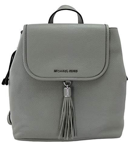 Michael Kors Bedford Backpack Bag Pebbled Leather (Pearl Grey)