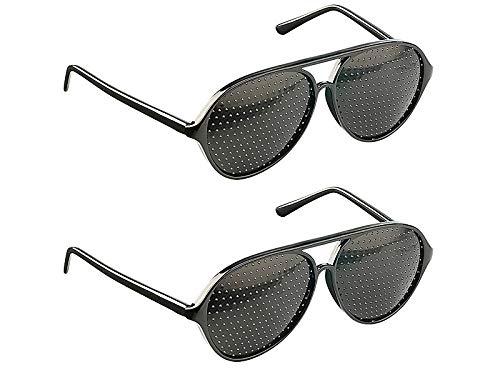newgen medicals Sehhilfe: 2er-Set Lochbrille (Rasterbrille) - der Augentrainer (Lochraster-Brille)