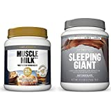 Cytosport Sleeping Giant Nighttime Protein Supplement Mix with Melatonin and Tryptophan, Hot Chocolate Pound with Whey Protein Powder Blend, Unflavored