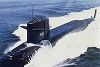 ERZAN1000ピース ジグソーパズルアメリカ海軍SSBN611USSジョンマーシャル608クラスミサイルボートアットシー減圧大人知育玩具