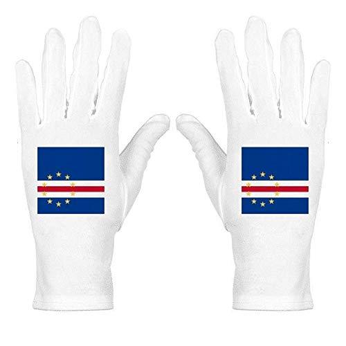 Guantes protectores de muñeca con diseño de bandera nacional de Cabo Verde