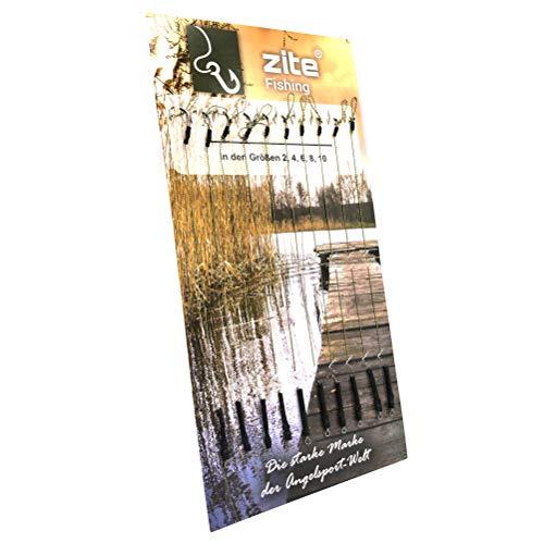 Zite Fishing Karpfen-Rigs Set - 10 Fertig Gebundene Vorfächer Boilie-Angeln - Geflochtene Angel-Schnur und Haken #2-10