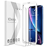 XDesign Glass Screen Protector Designed for iPhone 11 and iPhone XR (3-Pack) 6.1-inch Tempered Glass 9H Hardness 12 Points Impact Absorb + Pro Installation Tray [Fit with Most Cases]- 3 Pack