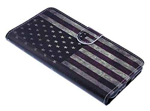 Amerikaanse Vlag Design Booktype/Portemonnee TPU Hoesje Samsung Galaxy S9 Plus