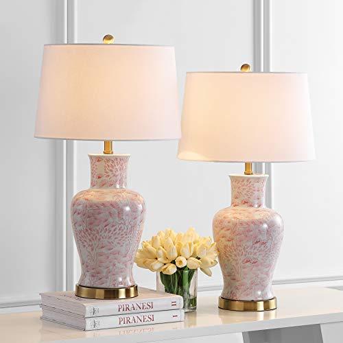 Safavieh Lighting Collection Calli Pink/White 28-inch...