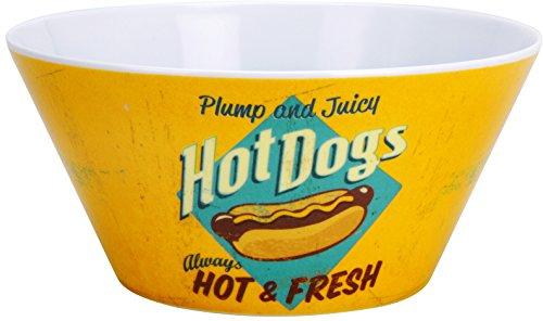 Bol saladier 25 x 11 cm mélamine barbecue-hot dogs