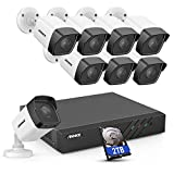 ANNKE H500 8CH Bullet PoE Security Camera System w/ 6MP H.265+ ONVIF NVR, 8X 5MP Outdoor CCTV IP Camera,100ft EXIR Color Night Vision, IP67 Weatherproof, 7/24 Protection, Motion Detection, 2TB HDD