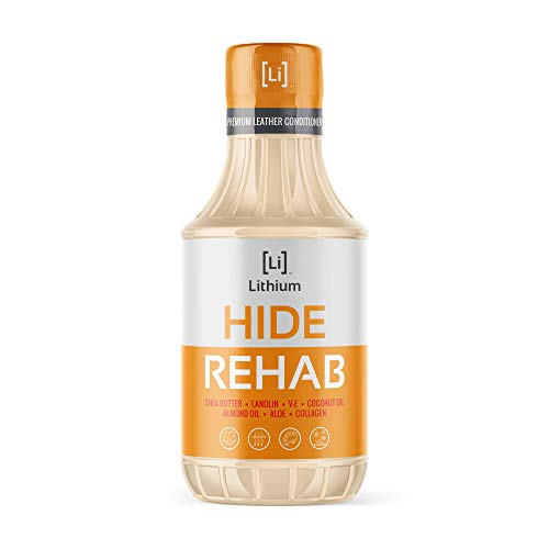 Hide Rehab Leather Conditioner- Most Effective Way Possible to Restore, Moisturize and Rehydrate Your Cars Leather. Protects from U.V. Rays, Stops Leather from Drying, Cracking. All Natural