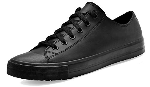 Shoes for Crews 38649-38/5 DELRAY Unisex Casual Leather Shoe, Slip...