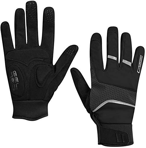 Madison Avalanche Ladies Waterproof Cycling Gloves - Black/Grey, Small/Women Cycle Mountain Road Bike Full Finger Mitten Mitt Windproof Thermal Winter Warm Ride Reflective Hand Wear