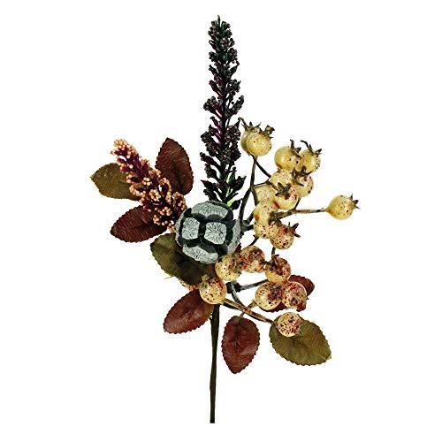 STEFANAZZI 12 Stück messen 18 cm Dekorationen pflücken künstliche Herbstdekorationen Beeren Kürbisse Blätter Ahornblätter Selbstbau Herbst realistische Schaufensterdekorationen