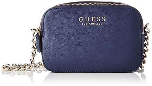 Guess - Robyn, Bolsos bandolera Mujer, Azul (Navy), 7.5x14x20.5 cm (W x H L) (Zapatos)