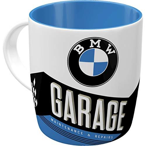 Nostalgic-Art Retro Kaffee-Becher - BMW - Garage, Große Lizenz-Tasse mit BMW-Motiv, Vintage Geschenk-Idee für BMW Zubehör Fans, 330 ml