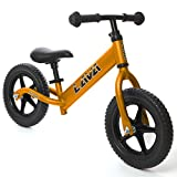 LAVA SPORT Balance Bike - Ultra Lightweight Aluminum - for Toddlers and Kids 2, 3, 4 Year Old (Java Gold)