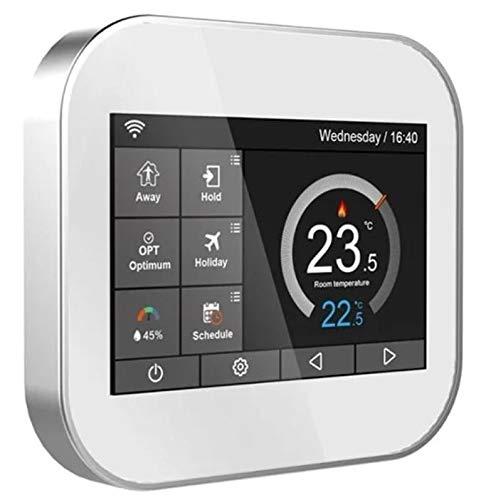 Termostato Wifi con pantalla LCD a color táctil para caldera gestionable mediante aplicación.