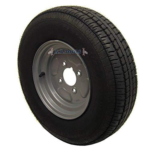 Rueda de remolque y neumático de 145 x 10 pulgadas, 4 capas, PCD