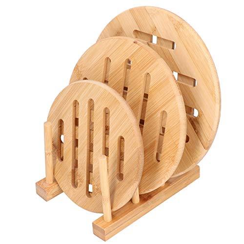 Bambu bordstablett, bordsmatta matsal varm dyna kopp tallrik tallrik hylla hållare värmebeständig bordstablett köksinredning ()
