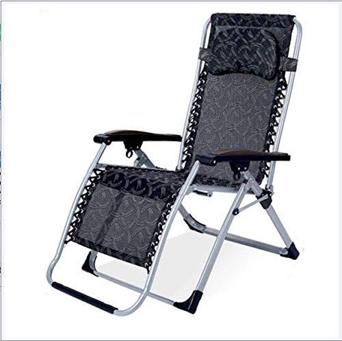 Haojie Cama Rollaway, Sillón de salón Reclinación Oficina Silla Silla Plegable Sillón Reclinable Sillón Al Aire Libre Patio Deck Beach Chaise