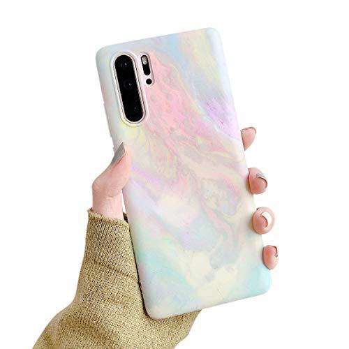 Suhctup Marbré Coque - Compatible avec Huawei Mate 30 Pro,Ultra Mince Silicone TPU Souple Etui Antichoc Anti-Rayures Bumper Housse de Protection Case Cover pour Huawei Mate 30 Pro,A2
