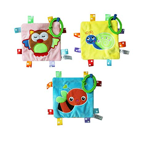 S&D Soft Buggy Activity Toy New-Born Sensory Soft Toy with Noise, Colours, Textures and Sounds, Suitable from Birth (Snail)