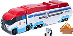 2-IN-1 TRANSFORMING VEHICLE: Transform from fan favorite PAW Patroller team vehicle into an action-packed track set! Kids can open up the Launch'N Haul to discover 3 rescue missions to complete and an exclusive Robodog 1:55 scale metal die-cast vehic...