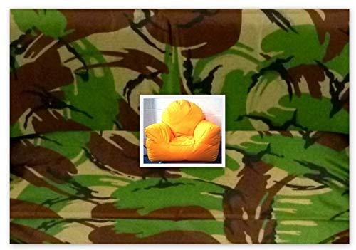 Zippy UK Child Sunbeam Bean Bag Chair - JUNGLE CAMO - Wipe Clean Fabric - Beanbag Armchair