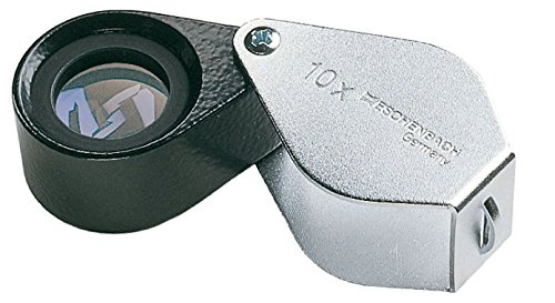 Eschenbach precisie-inslagklem, achromatische lens, Ø 15 mm, 10-voudige vergroting, incl. Echt lederen etui