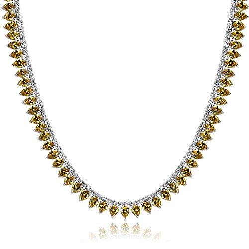 Blisfille Conjunto de Cristal Colgante Collar + Pendientes Collares Rosa Palo y Collar Corazon de Mar Colgante, Collar y Pendientes con Conjunto de Cristal,Amarillo