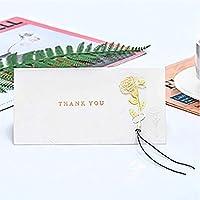 バンプブロンズローズ誕生日カードありがとうメッセージカード祝福カード普遍的なグリーティングカード Thank youグリーティングカード (金色)