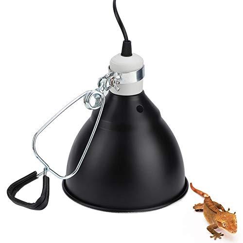 Reptilienklemme Lampenfassung E27 300W Turtle Heat UVA/UVB Glühbirnenhalter Keramikfassung Sicherheitsabdeckung für Reptilien Terrarium Aalen (Keine Glühbirne enthalten) (EU-Stecker 220V)