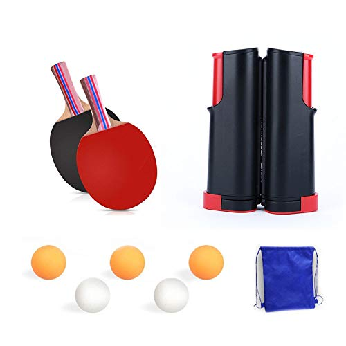 New Table Tennis Nets Adjustable Retractable Ping Pong Replacement Nets, Portable Holder Cover Case,...