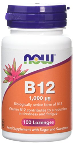 Now Foods B12 Lozenges, 1,000 mcg, Pack of 100, 1112 0495 V001
