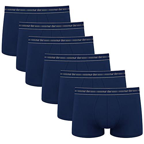 Nur Der Herren Boxer Cotton 3D-Flex Boxershorts, 6er Pack, Blau (Marine 480), Medium (Herstellergröße: 5)
