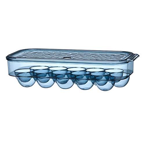Caja Envase para Huevos Hueveras de Plastico para Frigorifico con Tapa, Sin BPA, Apilable Contenedor De Almacenamiento De Huevos para 16 Huevos, Contenedor De Cocina, para Mantener Frescos (Azul real)