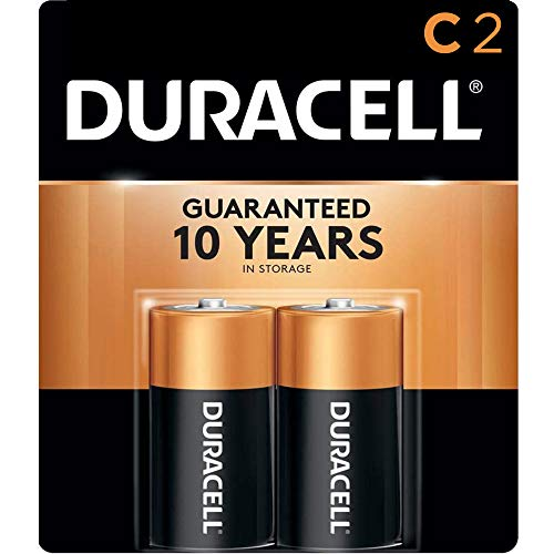 Price comparison product image Duracell - CopperTop C Alkaline Batteries with recloseable package - long lasting,  all-purpose C battery for household and business - 2 Count