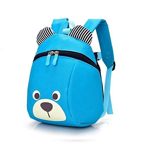 TGBN 3D Cartoon Lovely Bear Leisure School Students Bag Cartoon Kids School Bags Mochila Kindergarte Niños Mochila, Azul Cielo
