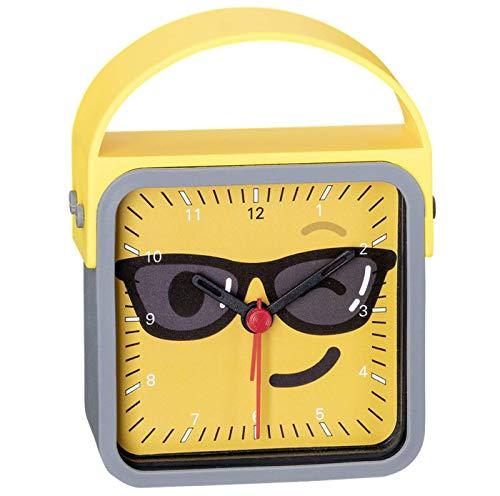 Eichmüller Kinderwecker Gelb, Emoji Sonnenbrille, mit schleichender Sekunde