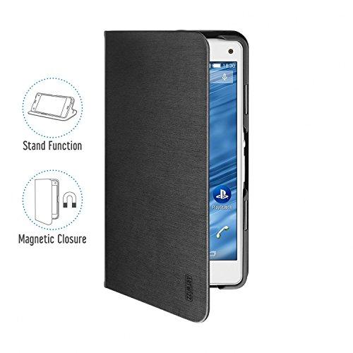 Artwizz FolioJacket Handyhülle designed für [Xperia Z3 Compact] - Schutzhülle im modernen Design mit Standfunktion, Magnetverschluss - Schwarz