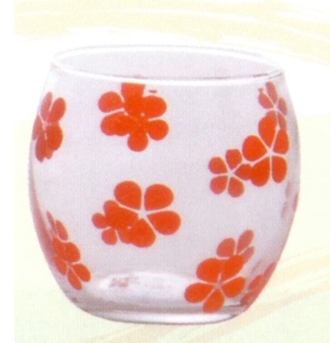 広々とした水分スキッパーキャンドルグラス はなはな べに