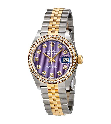 Rolex Lady Datejust Violet Stripe Diamond Dial Automatic Ladies Watch 279383VDJ
