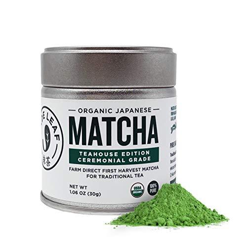 Jade Leaf Organic Ceremonial Grade Matcha Green Tea Powder - Authentic Japanese Origin - Teahouse Edition Premium First Harvest (1.06 Ounce)