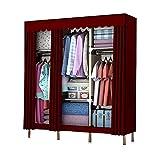 ZZYE Armario de tela Closet portátil Zip hacia arriba, armario Estabilidad de la ropa de pie Armario de pie Desmontaje...