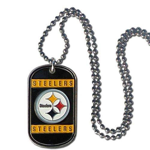 Siskiyou boys NFL Pittsburgh Steelers Dog Tag Necklace, 36-Inch