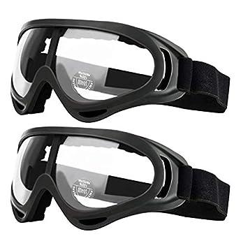 Foto di Occhiali di sicurezza da 2 paia per bambini con protezione anti-nebbia e UV, perfetti per pistole anti-schiuma